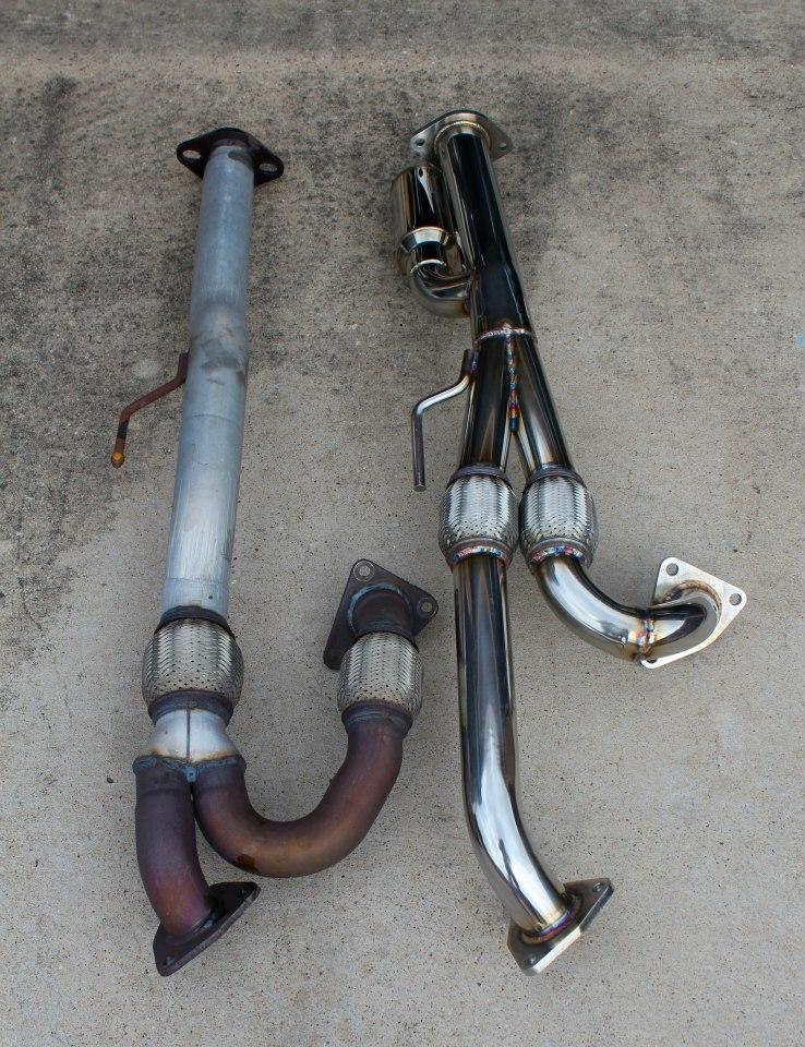 7thgen Maxima Racingline Y-pipe Comparison to Stock & Motordyne