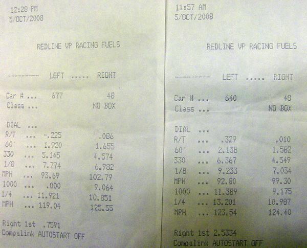 1995 Nissan Maxima GXE Nitrous Auto Timeslip Scan