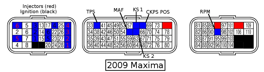 Color ECU Pinout Diagrams - my4dsc.com - Premier 4-Door Sports Car on infiniti g37 audio system diagram, 2000 nissan altima ecu pin diagram, s13 turn signal diagram,