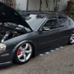 5thgen Nissan Maxima with Brabus Style White 90-LED Under Car Puddle Lights