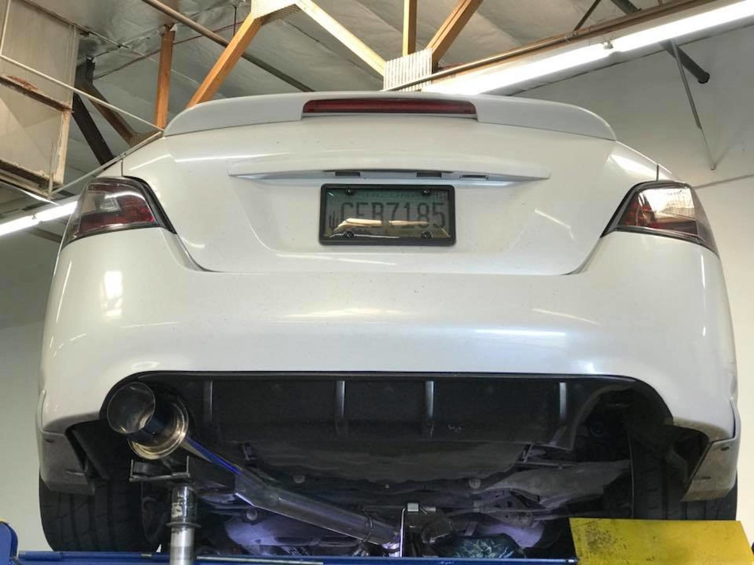 """7thgen Maxima with 3"""" Single Exit Cat-back Exhaust (4 5"""