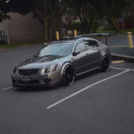 Modded 2007 6thgen Nissan Maxima with Fender Flares and Big Wing