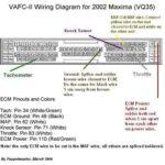 2000-2003 Nissan Maxima APEXI VAFC II ECU Installation Diagrams