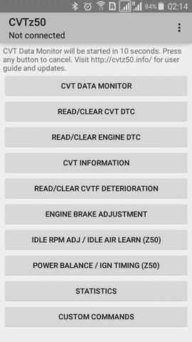 CVTz50 Android App   Nissan Maxima CVT Diagnostics (Monitor